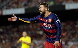 Le défenseur du Barça Gérard Piqué a été expulsé lors du match retour de Supercoupe d'Espagne contre l'Athletic Bilbao, le 17 août 2015.