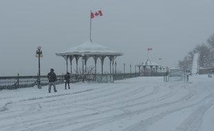 Une tempête de neige à Québec en décembre 2016.