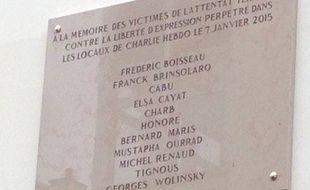 La plaque commémorative de l'attentat à Charlie Hebdo comporte une erreur sur le nom de Georges Wolinski.