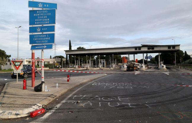 Narbonne: Quatre «gilets jaunes» condamnés à un an de prison ferme pour l'incendie d'une barrière de péage