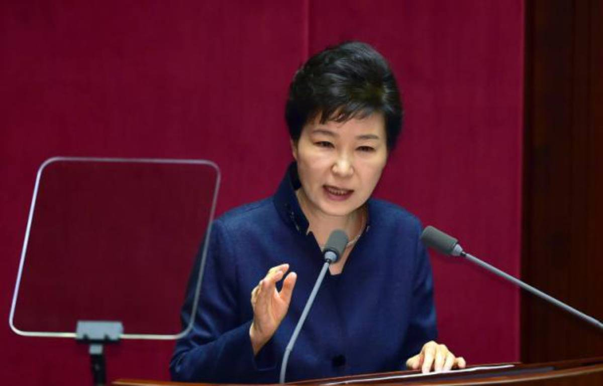 La présidente sud-coréenne Park Geun-Hye, le 16 février 2016 à Séoul – JUNG YEON-JE AFP