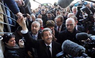 Nicolas Sarkozy à Châtelaillon, en Charente-Maritime, le 30 janvier 2014.