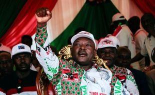 Le président burundais, Pierre Nkurunziza, le 16 mai 2020 à Bujumbura.