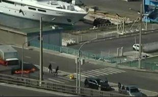 Capture d'écran d'un sujet sur le braquage d'un fourgon blindé à Marseille, le 31 mai 2010.