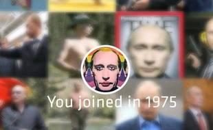Une vidéo sur Vladimir Poutine, à la manière du «lookback», proposé par Facebook, a été mis en ligne sur Internet