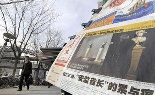 """""""L'acheteur chinois se moque de Christie's"""", constate, en une, le Global Times, relais des opinions les plus nationalistes."""