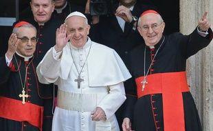 Le pape François au Vatican le 14 mars 2013.