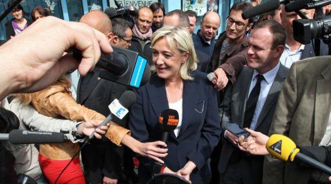 Marine Le Pen votait à Hénin-Beaumont au premier tour des législatives le 10 juin 2012. – M. LIBERT / 20 MINUTES