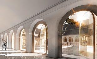Le centre des congrès de Rennes offrira un cloître extérieur.