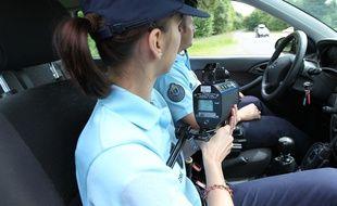 Un contrôle de vitesse effectué par la gendarmerie. (Illustration)