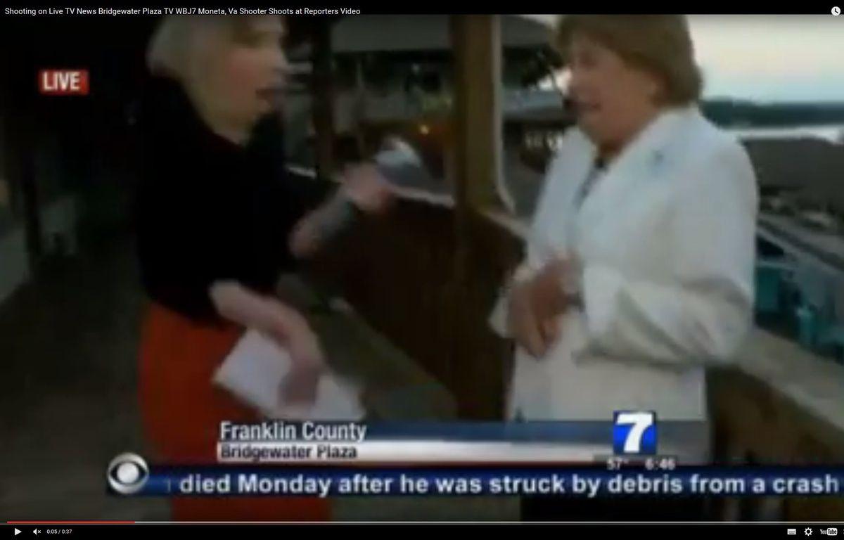 Au moins deux journalistes d'une chaîne de télé locale en Virginie (Etats-Unis) ont été tués par balles en plein direct le 26 août 2015. – Capture d'écran