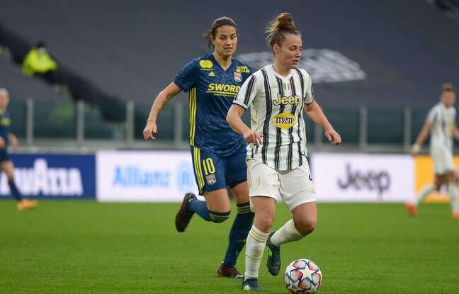 Ici au pressing sur Aurora Galli lors du match aller, Dzsenifer Marozsan a livré un match énorme, ce mardi à Lyon.