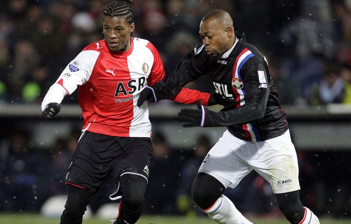 Ibrahim Kargbo (à droite) a truqué un match néerlandais en 2009. – ED OUDENAARDEN / ANP / AFP