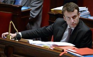 """Le ministre de l'Economie française lors des débats à l'Assemblée sur la loi """"pour la croissance et l'activité"""" le 14 février 2015."""
