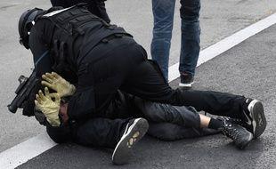 Une arrestation à Nantes samedi.