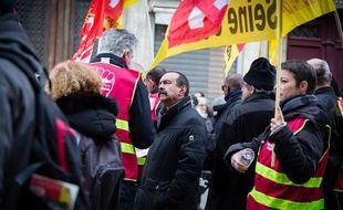 Philippe Martinez lors d'une manifestation à Paris, en février 2019.