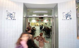 L'entrée d'un crédit municipal. Illustration.