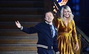 Martin Solveig et Ada Hegerberg lors de la remise du premier Ballon d'or féminin, à Paris le 3 décembre 2018.