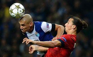 L'attaquant du PSGZlatan Ibrahimovic, le 3 octobre 2012, à Porto.
