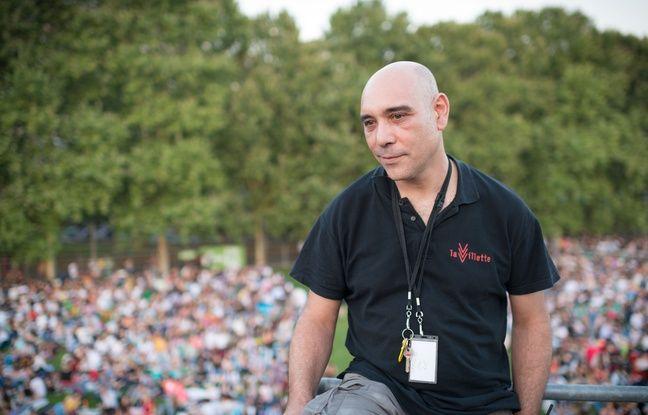 Marc Redjil, projectionniste du festival de cinéma en plein air 2018.