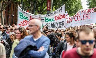 Depuis plusieurs mois, les enseignants toulousains sont mobilisés contre la réforme Blanquer//SCHEIBER_17430016/1905091751/Credit:FrÃ'dÃ'ric Scheiber/SIPA/1905091751