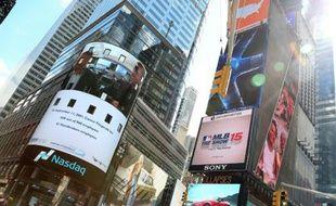 Time Square à New York, le 11 septembre 2015