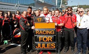 Après l'accident au Japon, Max Chilton et l'écurie Marussia avaient déjà rendu hommage à Bianchi.