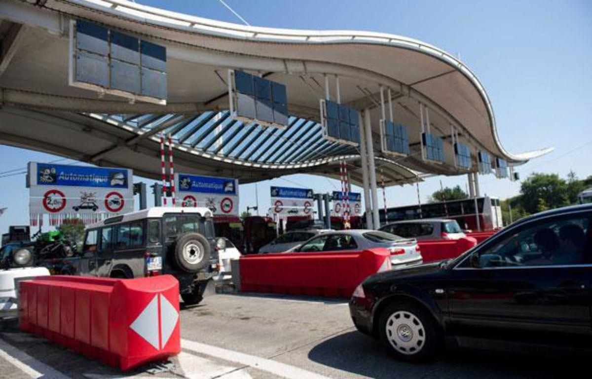 La gare de péage de Biarritz-La Negresse, sur l'autoroute A63. Le 21 août 2010. – LANCELOT FREDERIC/SIPA
