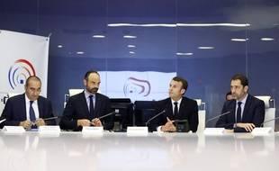 Emmanuel Macron et Edouard Philippe se sont réunis le 16 mars 2019 après les violences survenues lors de la manifestation des «gilets jaunes» à Paris.