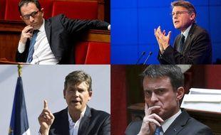 Benoit Hamont, Vincent Peillon, Arnaud Montebourg et Manuel Valls