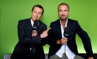 Grégoire Margotton et Christophe Dugarry en 2011.