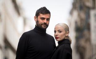 Le duo Madame Monsieur (Jean-Karl Lucas et Emilie Satt) à Paris, en avril 2018.