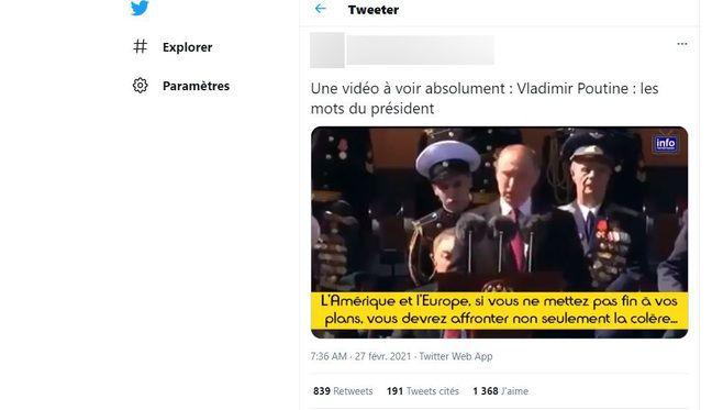 Fake captions were added to this 2016 speech by Vladimir Putin.