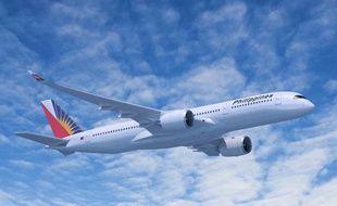 Une des futurs A350 de la compagnie Philippines Airlines.