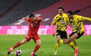 Lewandowski a remis le Bayern sur de bon rails contre Dortmund.