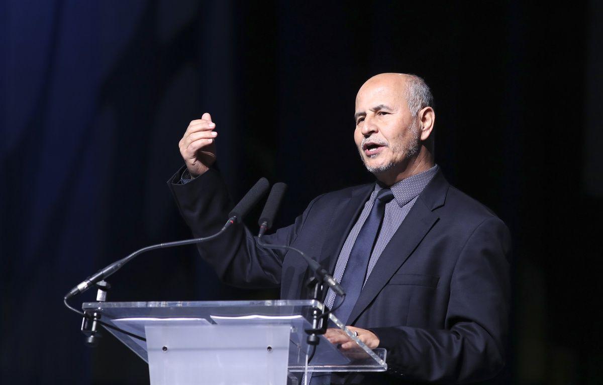 Le président L'UOIF Amar Lasfar, au Bourget le 15 avril 2017.  – JACQUES DEMARTHON / AFP