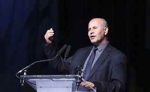 Le président L'UOIF Amar Lasfar, au Bourget le 15 avril 2017.