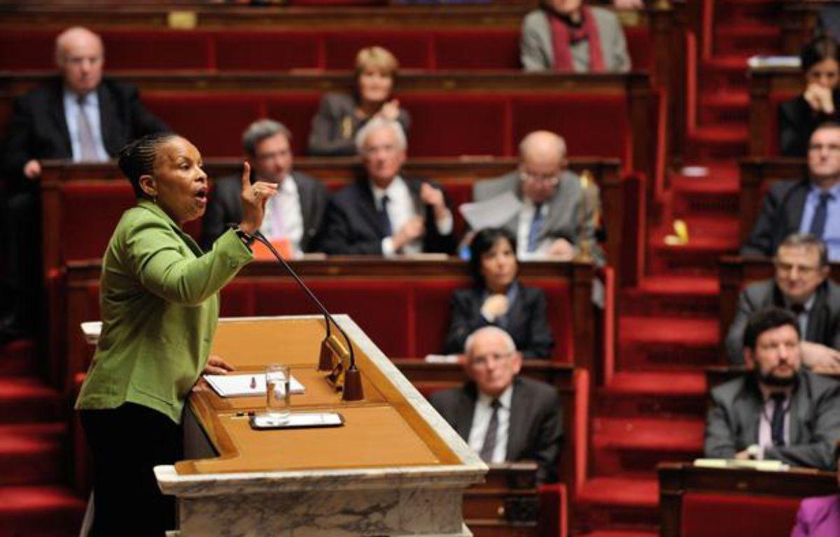 Christiane Taubira à l'Assemblée nationale le 29 janvier 2013. –  Remy de la Mauviniere/AP/SIPA