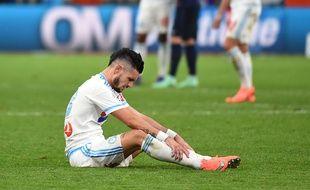 Rémy Cabella le 7 février 2016 après la défaite face au PSG