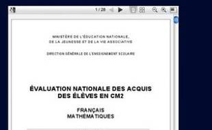 Les évaluations en CM2 ont été mises en ligne sur le site Evaluator avant leur lancement, le 17 janvier 2011.