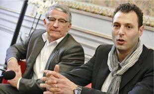Jérôme Fernandez a été reçu au Capitole, hier, par le maire Pierre Cohen.