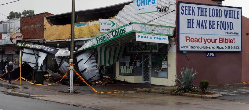 La ville de Perth, en Australie-Occidentale, est touchée par une tempête.