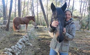 Filou du Paradis a été le premier cheval à bénéficier des soins d'Equilibre Cavalcade.