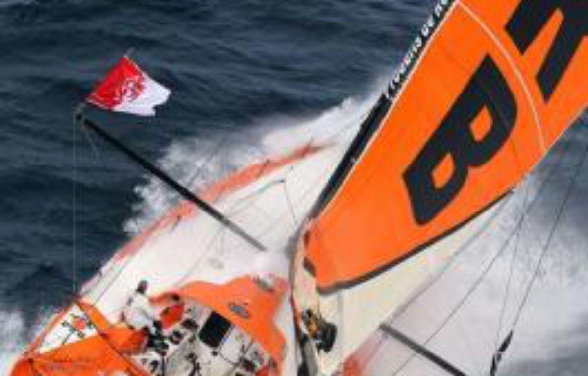 Le Français Vincent Riou, l'un des grands favoris du Vendée Globe 2012-2013, a décidé d'abandonner suite à l'avarie causée samedi à son bateau (PRB) lors d'une collision avec une bouée métallique au large des côtes brésiliennes, a annoncé dimanche son équipe – Jean-Marie Liot afp.com
