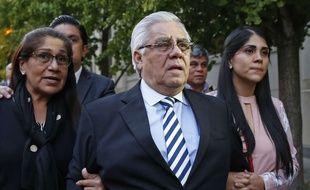 L'ancien secrétaire général de la fédération de football du Guatemala Hector Trujillo à New York, le 25 octobre 2017.