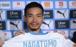 Yuto Nagatomo, 34 ans, a voulu rassurer sur son âge lors de sa présentation officielle.
