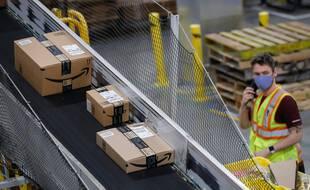 Un entrepôt Amazon (image d'illustration).