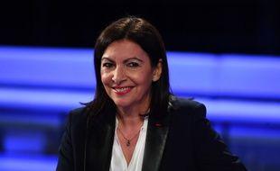 Anne Hidalgo sur le plateau du débat organisé entre les candidats à la mairie de Paris, le 10 mars 2020.