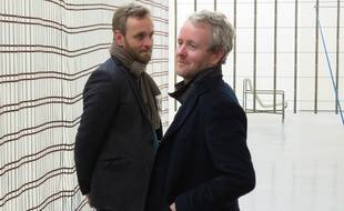 Erwan et Ronan Bouroullec au Fonds régional d'art contemporain à Rennes.