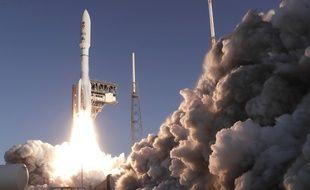 Décollage de la fusée transportant le rover Perseverance le 30 juillet 2020.